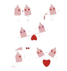 funny little condoms vector image