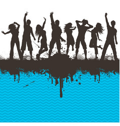 grunge party 2803 vector image