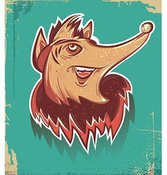 Halloween design fox vector