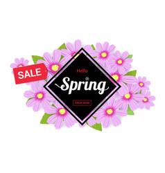 hello spring season time sales season banner vector image vector image