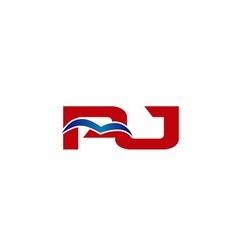 Letter pj logo vector