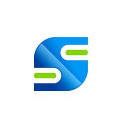letter s technology logo vector image