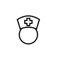 line nurse icon on white background vector image vector image