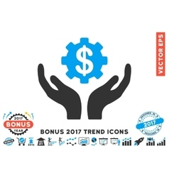 Maintenance price flat icon with 2017 bonus trend vector