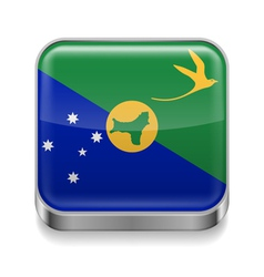Metal icon of christmas island vector