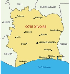 Republic Ivory Coast map Royalty Free Vector Image