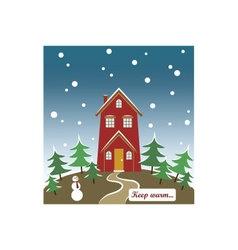 Seasonal card keep warm vector