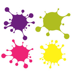 Set of colored blobs vector