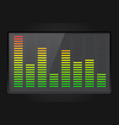 sound equalizer on dark background vector image