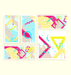universal abstract cards and posters set vector image vector image