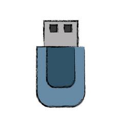 usb icon image vector image vector image