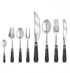 Silver tableware's vector