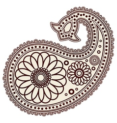 Paisley decoration vector