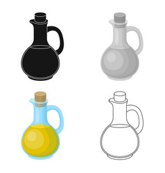 Pitcher with olive oilolives single icon in vector