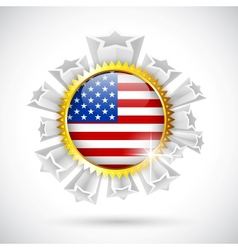 American flag badge vector