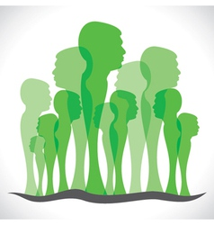 Green men forest vector