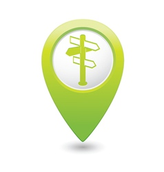 Direct green map pointer vector