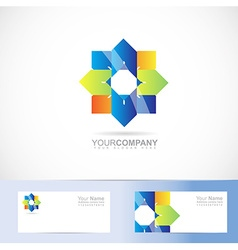 Abstract colored flower logo vector