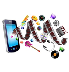 mobile multimedia vector image