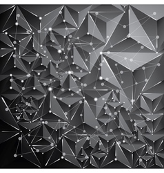 Abstract triangle dark background vector image vector image
