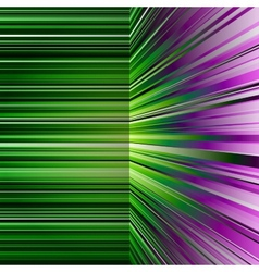Abstract warped green and purple stripes vector