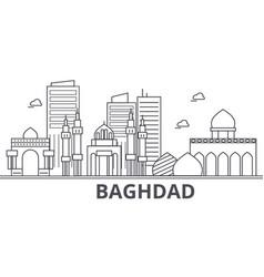 Baghdad architecture line skyline vector