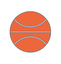 Basketball ball isolated vector
