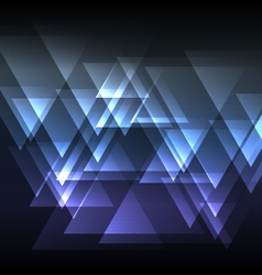Blue abstract triangle overlap background vector