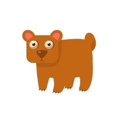 Brown bear simplified cute vector