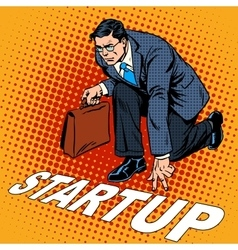 Business concept startup businessman vector image vector image