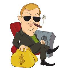 cartoon image of businessman vector image vector image