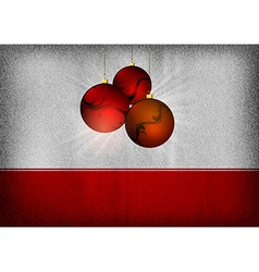 christmas background grey red vector image vector image