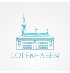 City hall the symbol of copenhagen denmark vector