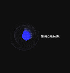 Cyber security and information protection protect vector