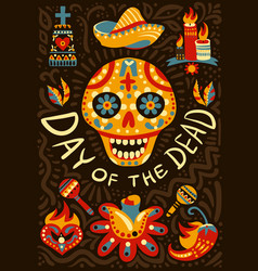 Dead day mexico background poster vector