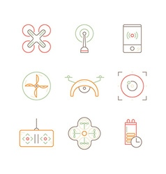Drone icon collection vector