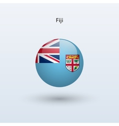 Fiji round flag vector