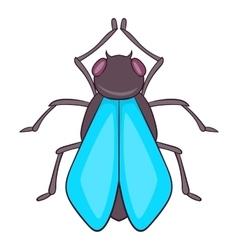 Fly icon cartoon style vector