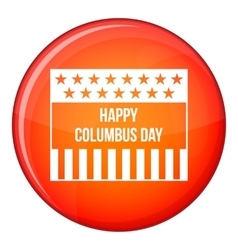 Happy columbus day icon flat style vector