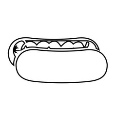 Hot dog fast food isolated icon vector
