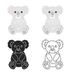 Koala icon cartoon singe animal icon from the big vector