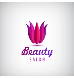 Lotus logo spa and salon icon vector