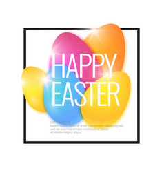 modern background and poster happy easter vector image vector image
