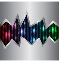 neon and metal background vector image vector image