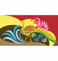 phoenix decorative vector image vector image