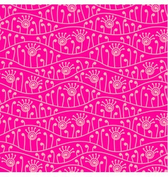 Pink abstract floral seamless background vector image vector image