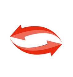 Red arrow 3d sign icon vector