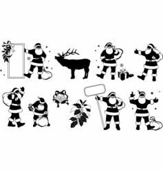 Santa Claus silhouette vector image