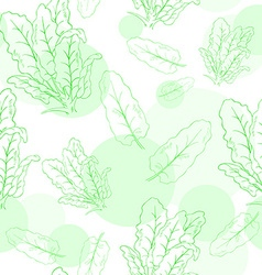 Seamless pattern with spinach and its leafs vector