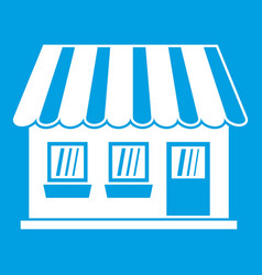 shop icon white vector image